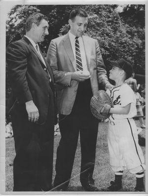 Little League Opening Day 1959- Ralph Branca  Walter Signer