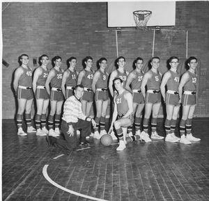 Early 1960's Rye High Basketball Team (autocorrect)