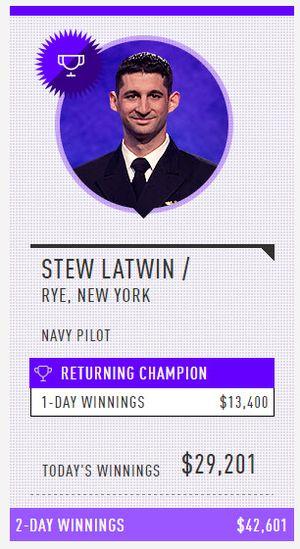 Stew Latwin 3 winner