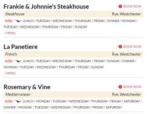 Restaurant week 3 RYE
