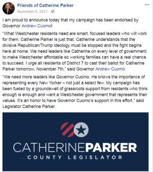 Catherine Parker Andrew Cuomo