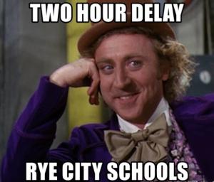 Rye Schools Two Hour Delay