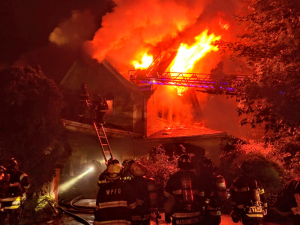 167 Grandview Avenue Rye NY burning 2