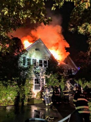 167 Grandview Avenue Rye NY burning 3