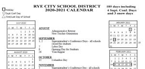 Rye City school cal