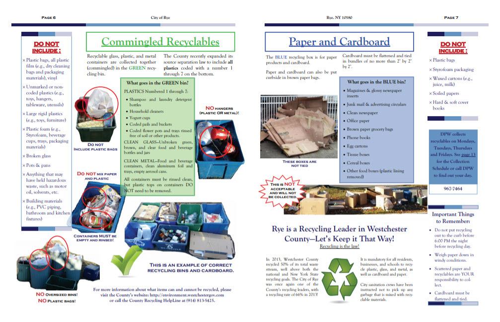 Rye NY Recycling