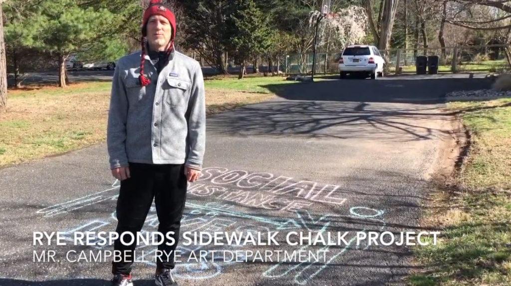 chalk art project - Rye City Schools