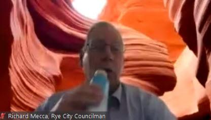 Councilman Richard Mecca on Zoom