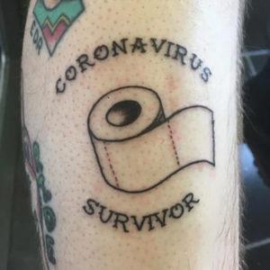 Coronavirus tattoo