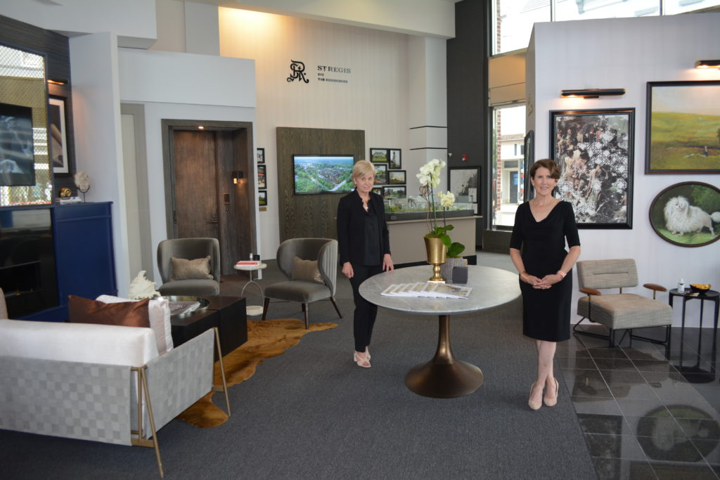 St. Regis Residences, Rye - Sales Gallery on Purchase Street. Sales Agent Pam Peterson and Director of Sales Susie Joyce.