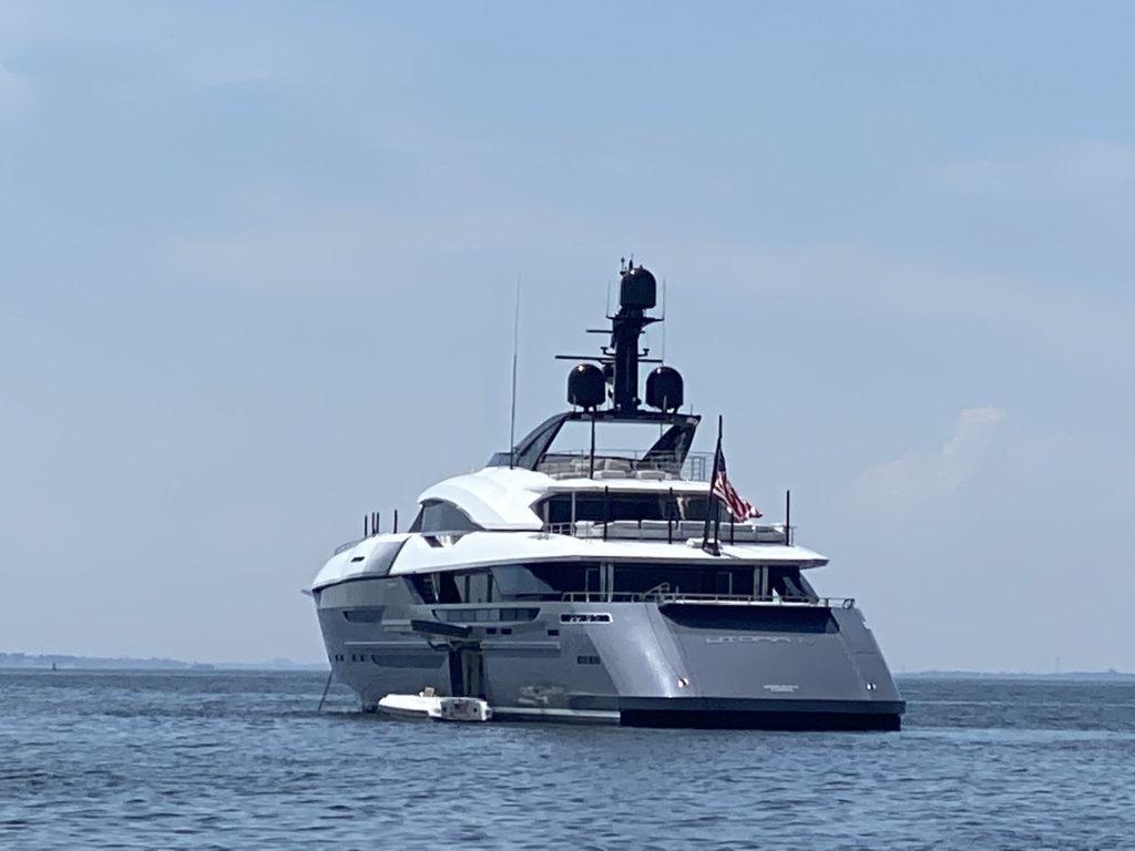 Utopia IV mega yacht off Rye, NY