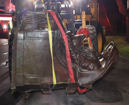 Fireman's Circle Statue Toppled by Stolen Car in Rye PD Chase