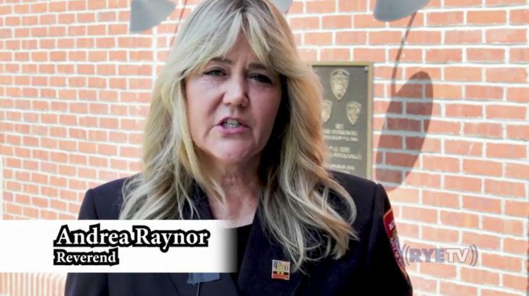 Rye 9-11 virtual ceremony 2020 Andrea Raynor, Reverend
