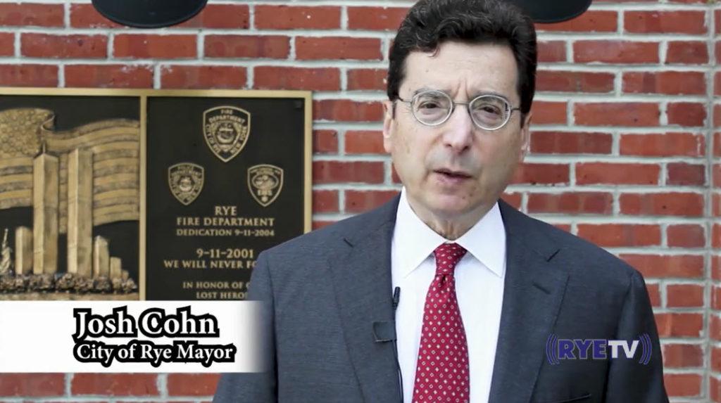 Rye 9-11 virtual ceremony 2020 Josh Cohn, Rye Mayor