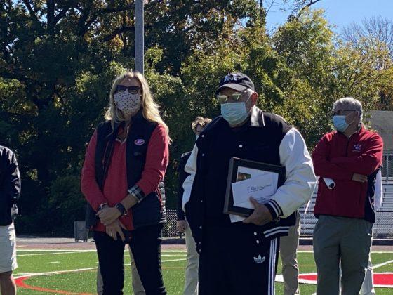 Athletic Director Susan Reid Dullea, Doug Mello