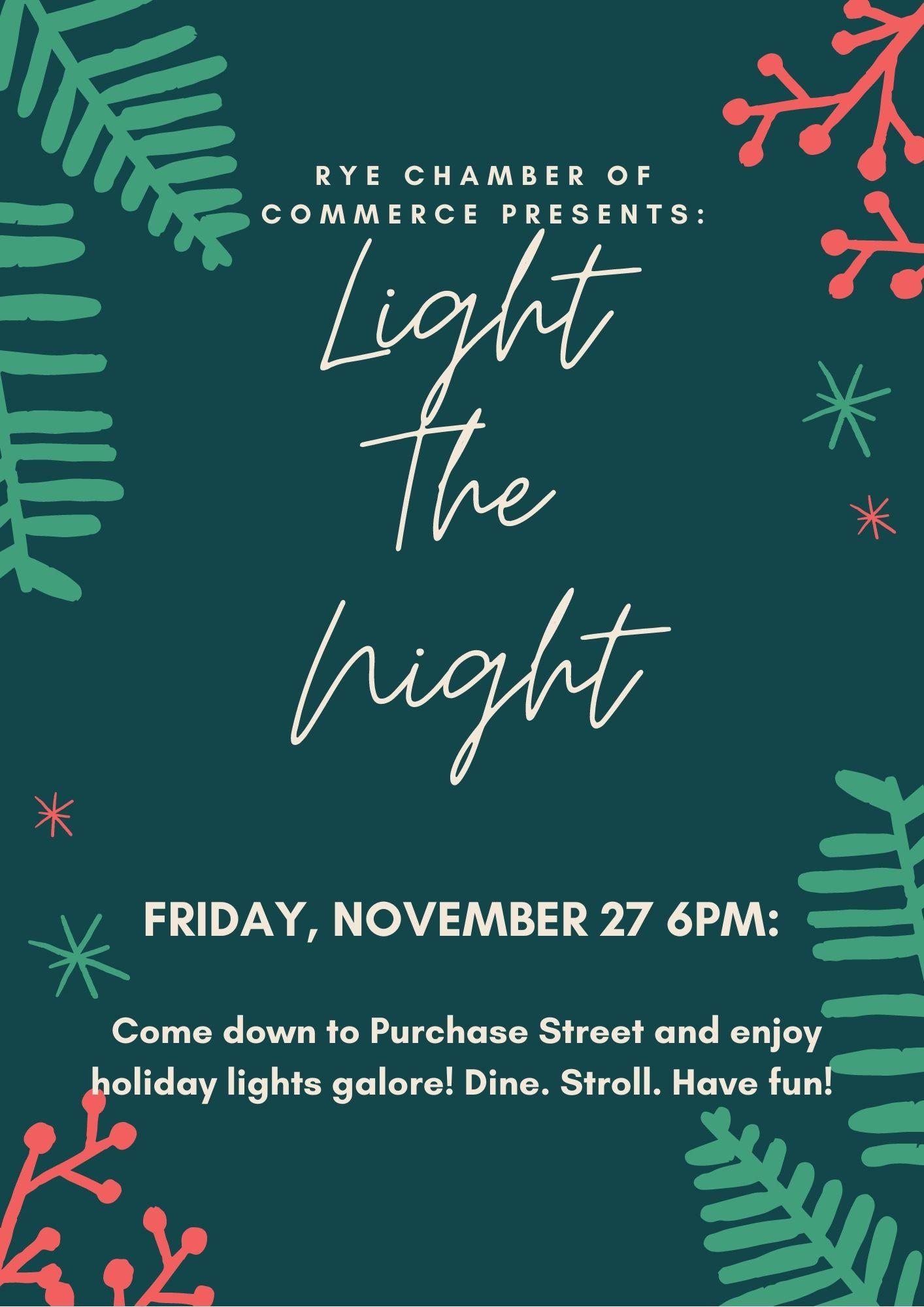 Rye Chamber of Commerce - 11-27-2020 Light the Night