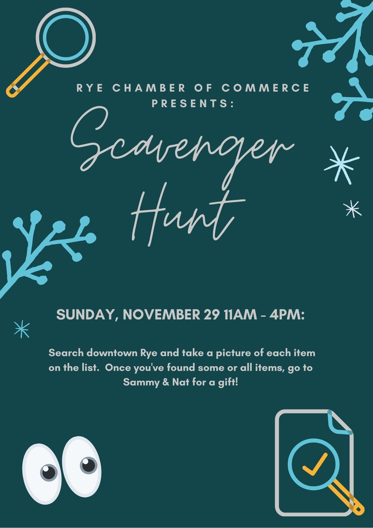 Rye Chamber of Commerce - 11-29-2020 Scavenger Hunt