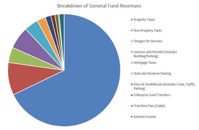 Rye Citizens Budget Report 2020 - Breakdown of General Fund Revenues