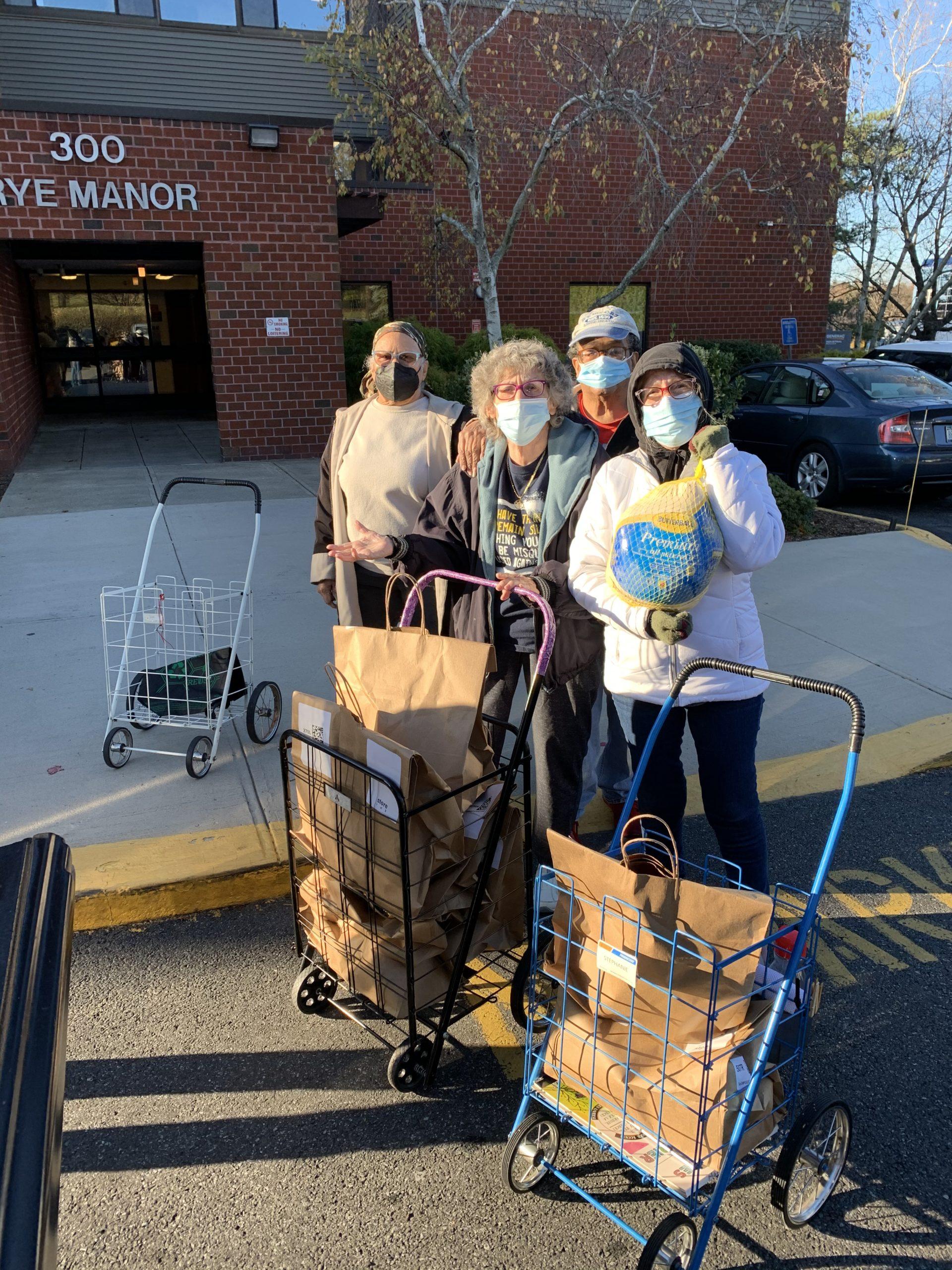 Rye Manor turkey donation