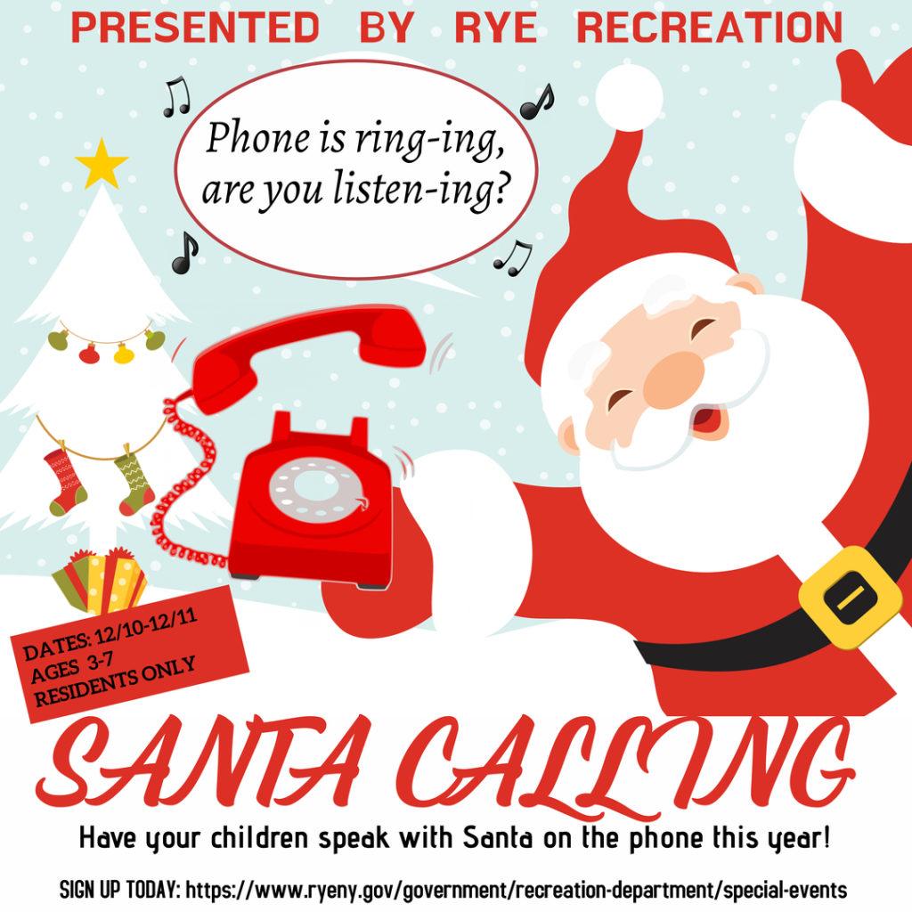 Santa phone calls 2020