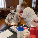The Osborn Pavilion COVID-19 vaccination January 4, 2020