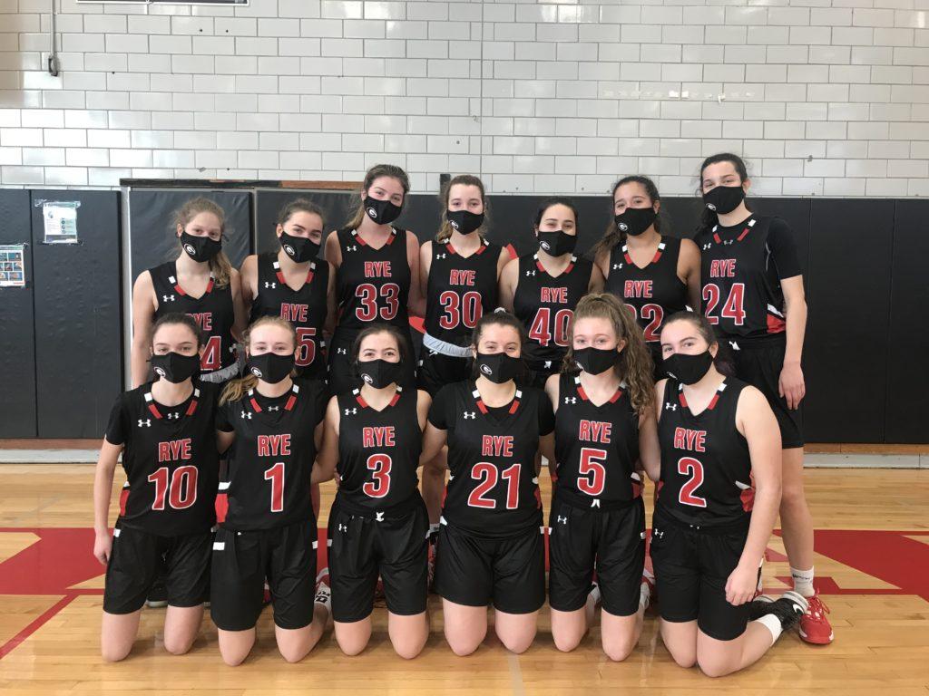 Rye Varsity Girls Basketball - team photo 2021