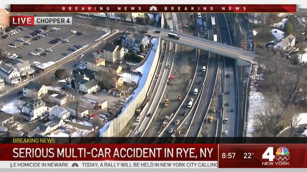 I-95 accident February 17, 2021 -- 1 WNBC