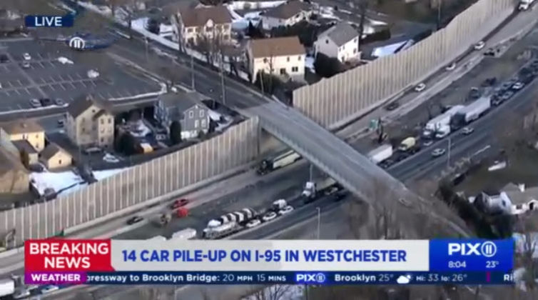 I-95 accident February 17, 2021 -- 4 WPIX