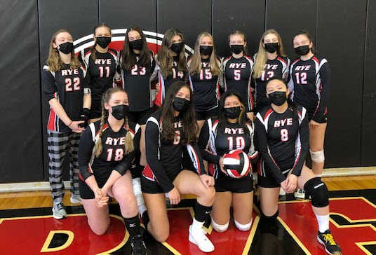 Rye Girls Varsity Volleyball Team Photo 2021 - 2