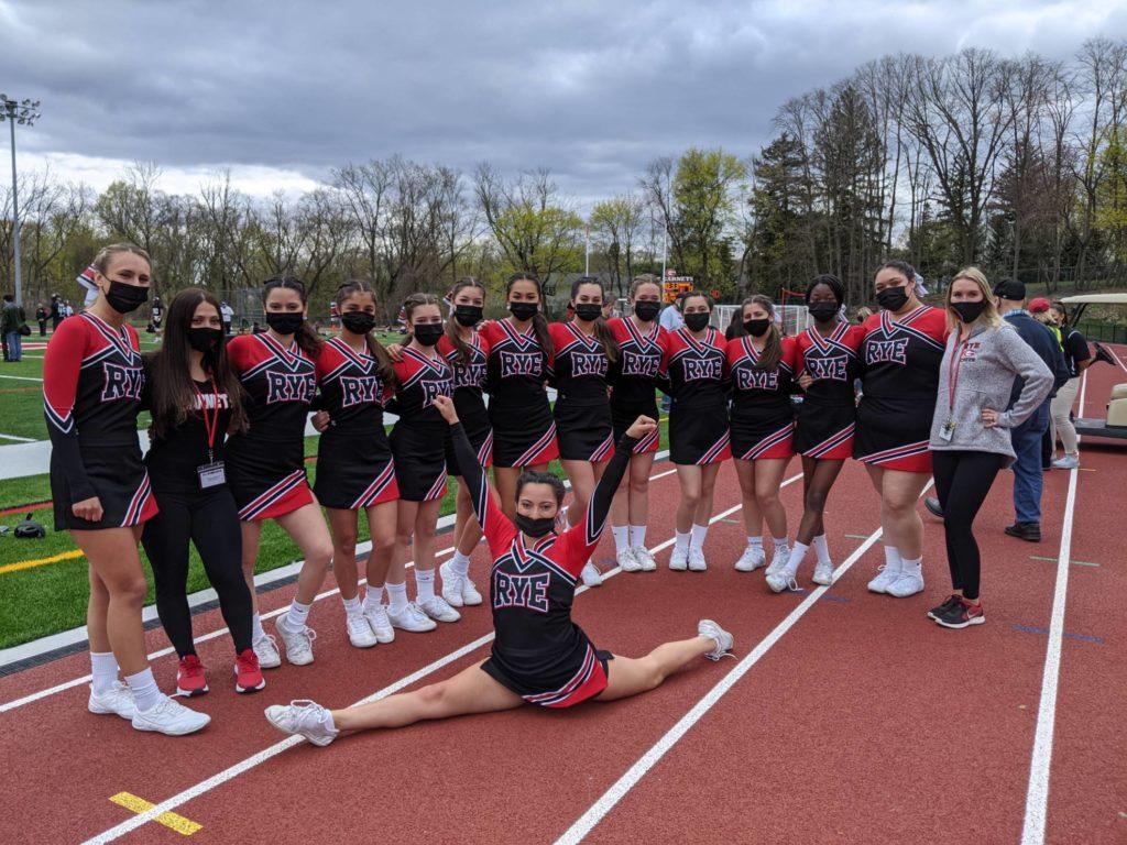 Rye Girls Varsity Cheer 04-17-2021 vs. Harrison The Game - 1