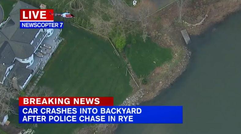 Rye PD car chase into backyard 04-21-2021 - 1