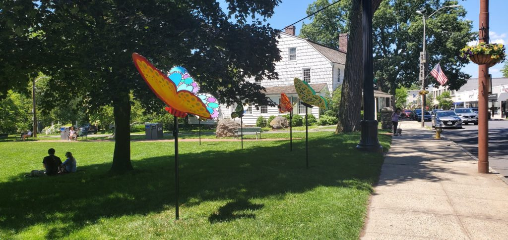 """""""Rye'sAbove"""" butterfly project 2021 by The Rye Rotary and the Rye Arts Center"""