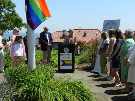 Rye Town Park Pride Flag Raising June 5, 2021