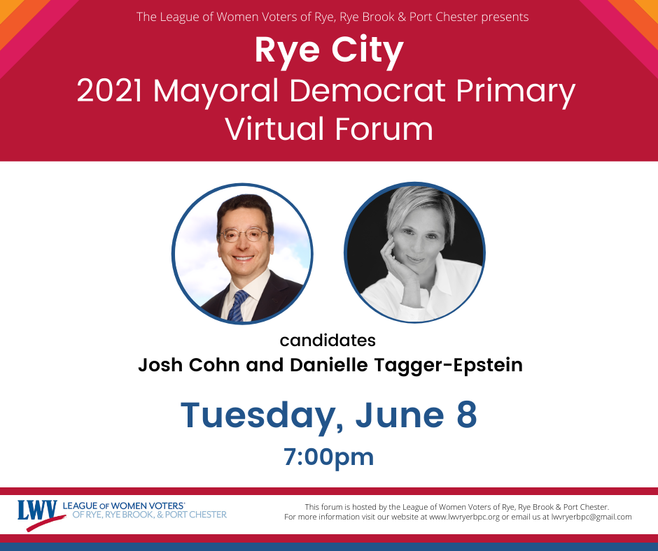 Rye Mayoral Forum - League of Women Voters of Rye, Rye Brook, & Port Chester