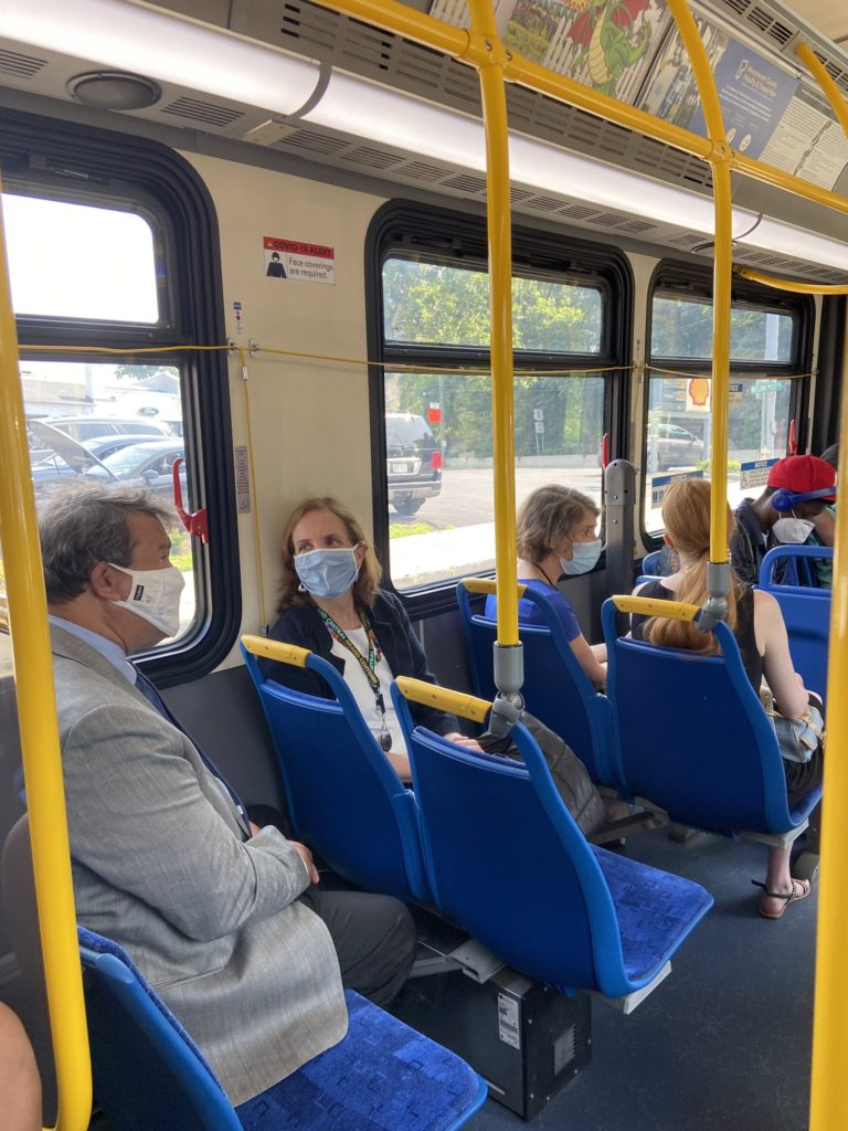 Latimer on the Bee Line Bus July 16, 2021
