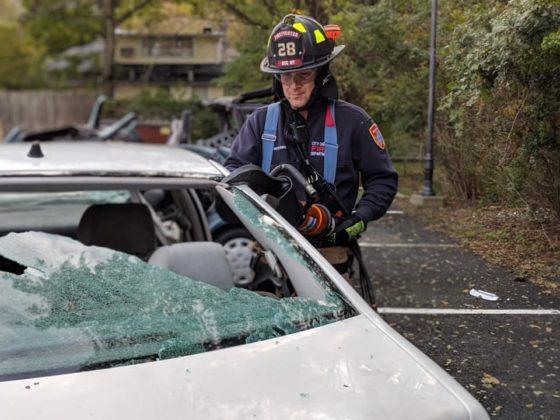Rye FD senior firefighter John Castelhano