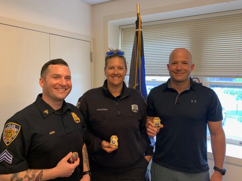 Rye PD's Patrol Lieutenant Al Hein, Sergeant Christine Incalcatera, Sergeant Kevin Pallone