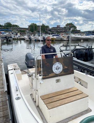 Where I Work-08-2021- Rodrigo Paulino on the boat