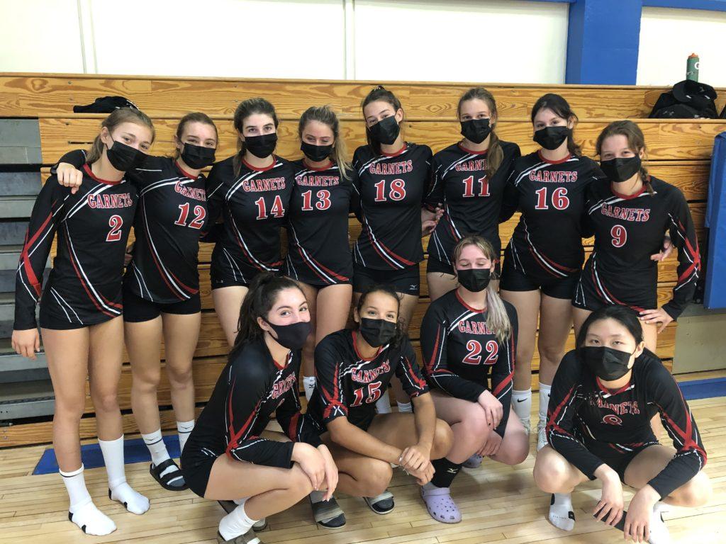 (PHOTO: The Rye Varsity Volleyball team.)