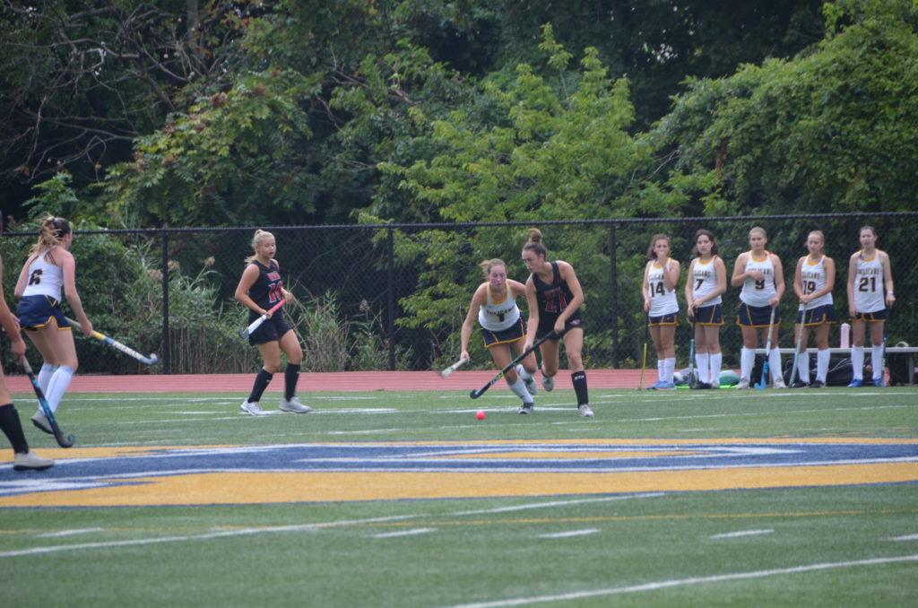 (PHOTO: Rye Girls Varsity Field Hockey zipped Pelham 1-0 on Friday.)