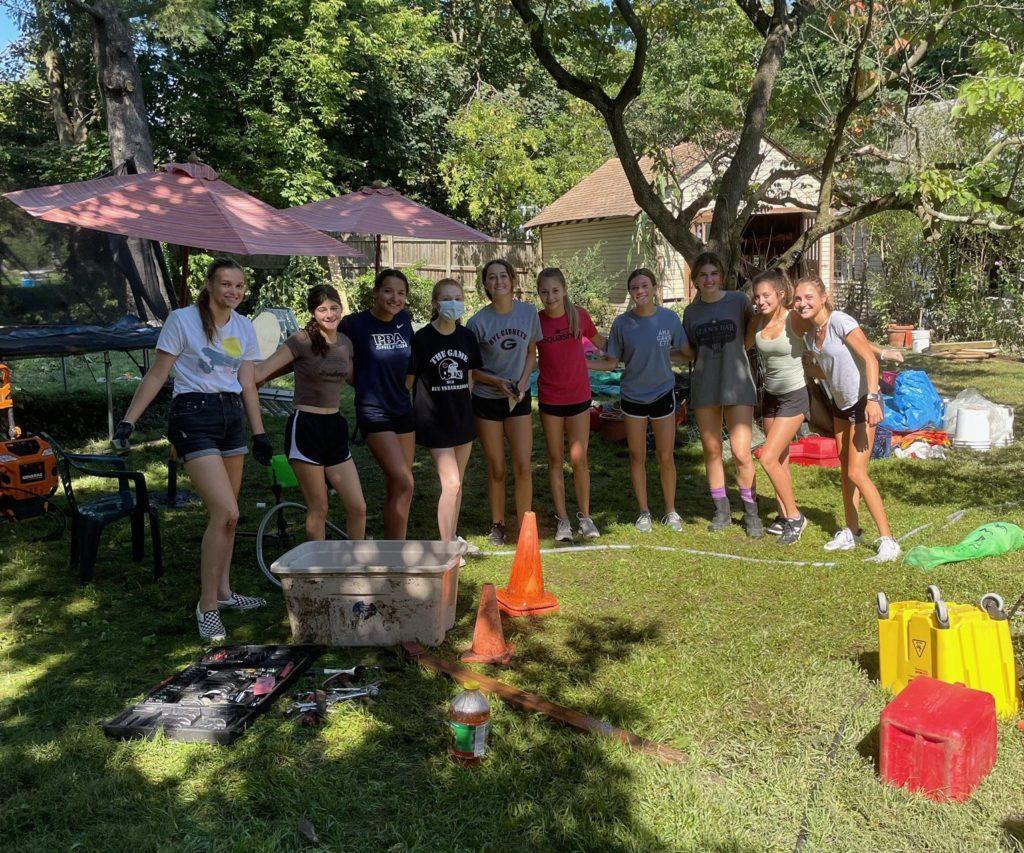 Rye Girls Volleyball - helping with Hurricane Ida September 7, 2021 - 2
