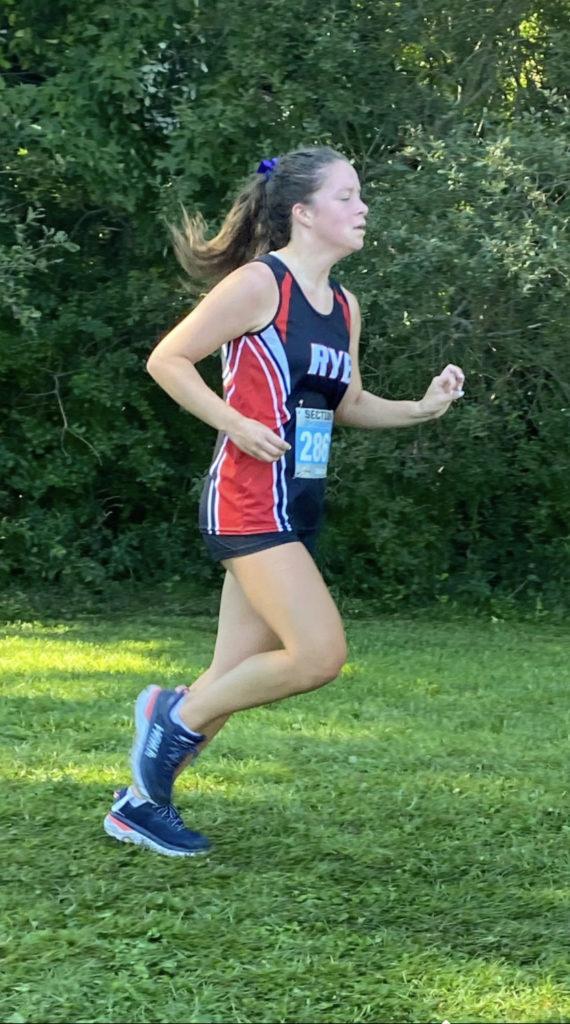 Rye Varsity Cross Country team member Cate Doyle 2021-09-11