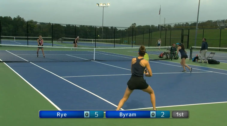 Rye Girls Varsity Tennis vs. Byram Hills - Section 1 doubles title 2021-10-13 -- 1
