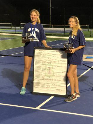 Rye Girls Varsity Tennis vs. Byram Hills - Section 1 doubles title 2021-10-13 -- 3