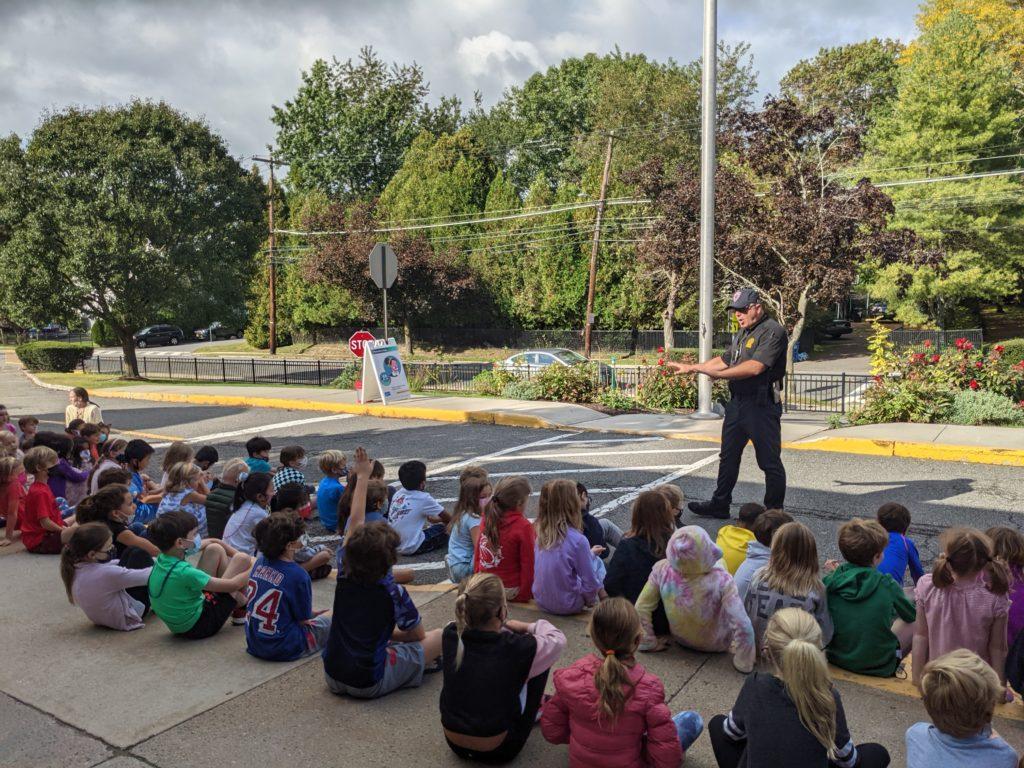 Rye PD Youth Detective Gabe Caputo Walks the Walk and Talks the Talk at Midland Elementary School