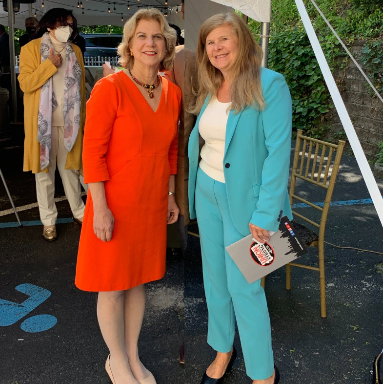 State Senator Shelley Mayer with City Council Candidate Lisa Tannenbaum